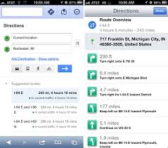 Michigan Google Maps by Ios 6 Maps Vs Ios 5 Maps Vs Maps Google Com Location Data