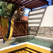 our private pool hammock picture of koox art 57 boutique hotel
