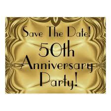 fiftieth anniversary 50th anniversary save the date postcards zazzle