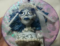 corpse ornament polymer clay ooak doll
