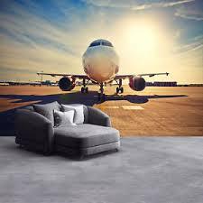 airplane home decor airplane sunrise wall mural aeroplane photo wallpaper bedroom home