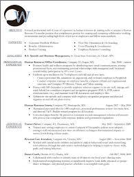 human resources generalist sample resume cover letter sample hr