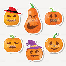happy halloween vector sticker halloween pumpkin happy halloween vector illustration