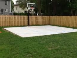 Backyard Basketball Online by Backyard Basketball Court With Blue Striping Basketball Hoop