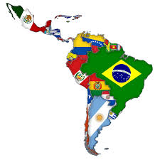 South America Flags North Middle And South America Flags Map Names Stock Photo