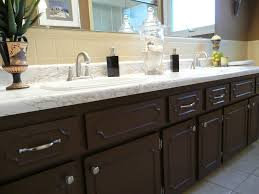 Black Painted Bathroom Cabinets Impressive 20 How To Paint Bathroom Cabinets Brown Design Ideas