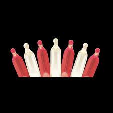 Red And White Christmas Lights Martha Stewart Living 50 Light Led M5 Red White Light Set Ty822