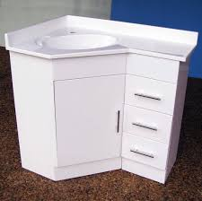 Corner Bathroom Vanity Cabinets Bathroom Contemporary Corner Bathroom Vanity With Sink In White