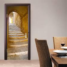 200x77cm 3d creative stairs passage pvc self adhesive door wall 200x77cm 3d creative stairs passage pvc self adhesive door wall sticker living room mural decor