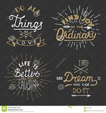 set of vector inspirational lettering for greeting cards prints