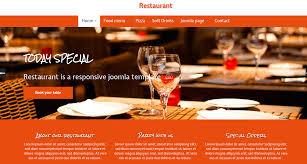 food templates free download 11 best free responsive joomla templates download live demo restaurant