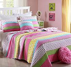 Girls Striped Bedding by Amazon Com Best Comforter Set 2 Pieces Bedding Set Pink Dot
