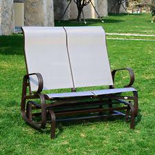 porch swing glider bench outdoor indoor wood garden patio 2 person