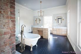 master closet dressing room alabaster walls vanity bue gray door