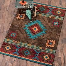 Western Style Area Rugs Southwest Rugs 8 X 11 Whiskey River Turquoise Rug Lone