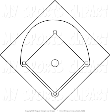 black and white baseball diamond free download clip art free