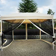 Patio Gazebo Canopy Outdoor Gazebo Canopy 10 X 10 Pop Up Tent Mesh Screen