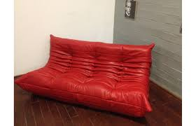 red leather togo sofa by michel ducaroy for ligne roset 1974