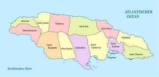 Map Of Kingston Jamaica File Jamaica Administrative Divisions Parishes De Colored