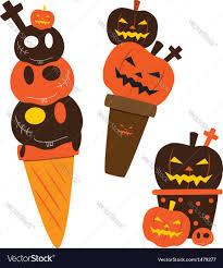 Free Halloween Vector Art Halloween Ice Cream Royalty Free Vector Image Vectorstock