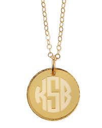 monogrammed pendant necklace monogram pendant necklace neiman