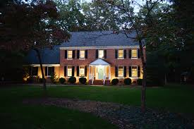 colonial house outdoor lighting amazing design where to place landscape lighting stylish decoration