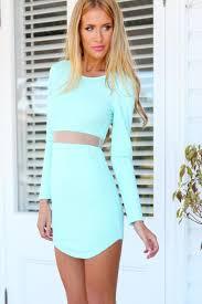 light blue mini dress blue long sleeve mini dress fashion long dress