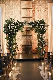 wedding altar backdrop new york city wedding at the green building in photos