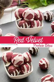 red velvet protein bites gluten free and high protein