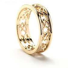celtic wedding sets wedding rings claddagh ring gold knot wedding band