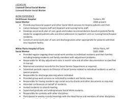 Resume For Social Workers Examples Of Social Work Resumes Lukex Co