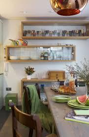 Glass Shelves For Kitchen Cabinets Kitchen Furniture Kitchen L Shaped Brown Glaze Oak Wood Shelf