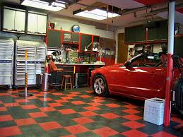 Garage Ideas Onbudget Garage Ideas Man Diy Also Stunning Cave Floor Trends