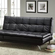Black Leather Sleeper Sofa Latitude Run Black Leather Sleeper Sofa Reviews Wayfair