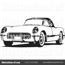 classic cars clip art corvette clipart 26476 illustration by david rey