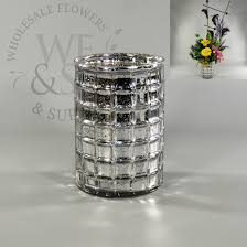 Where To Buy Cylinder Vases Mirrored And Mercury Wholesale Flowers And Supplies