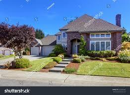 big luxury house tile roof brick stock photo 222582526 shutterstock