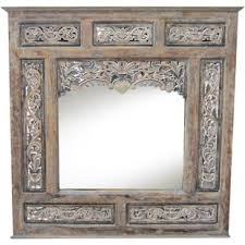 carved wood framed wall window mirrors you ll wayfair