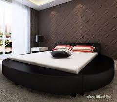 round bed frame super king size pu leather black round bed frame upholstery sleeper