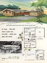 town u0026 country ranch homes 1962 vintage house plans 1960s