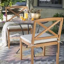 belham living brighton wood and mosaic patio bistro set hayneedle