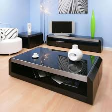 amazing black glass coffee table with black glass and wood coffee