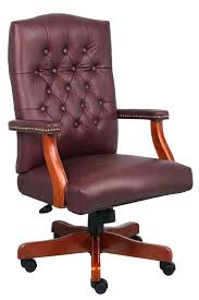 tufted leather desk chair leather tufted office chair burgundy leather office chair green