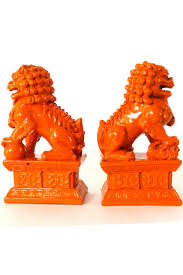 foo dog bookends orange foo dog bookends from chicago by classic remix shoptiques