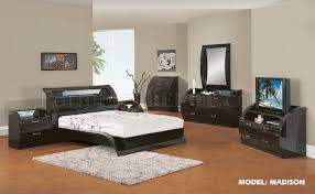 madison modern bedroom in wenge finish by global furniture