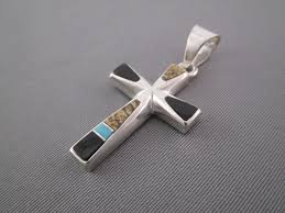 turquoise stone wallpaper multi stone inlay cross pendant with turquoise inlay cross