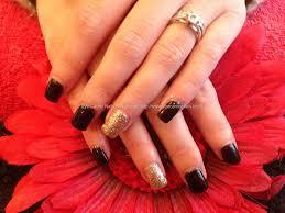 eye candy nails u0026 training acrylic nails with black n gold gel