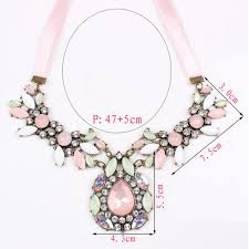 chunky chain charm necklace images Women fashion charm crystal choker jewelry pendant chain chunky jpg