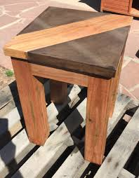 walnut brown concrete table top with wood inlay table top is 1 5