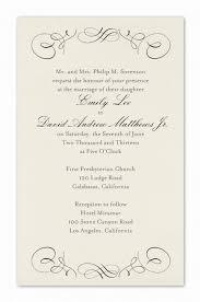 Wedding Invitation Example Formal Wedding Invitation Template Kmcchain Info